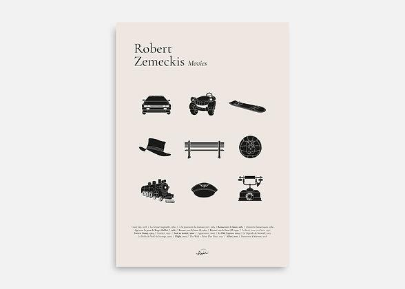 Robert Zemeckis Movies - Affiche minimaliste signée