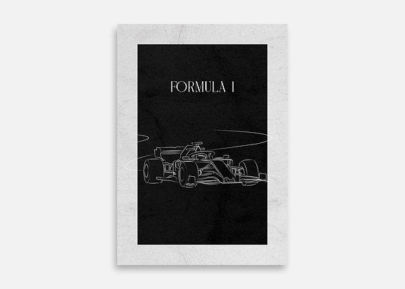 Formula 1 - Affiche minimaliste signée