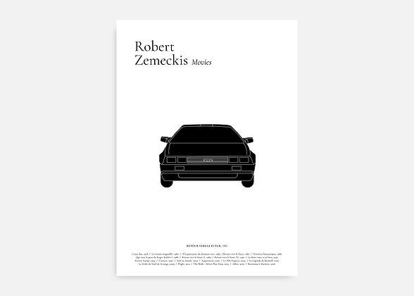 Retour vers le futur - Affiche minimaliste signée