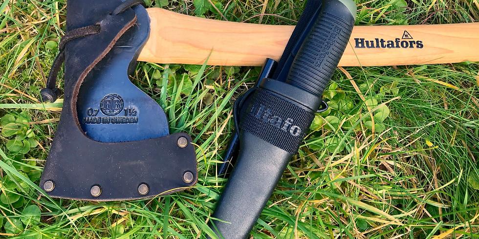 Hantera kniv och yxa säkert och effektivt