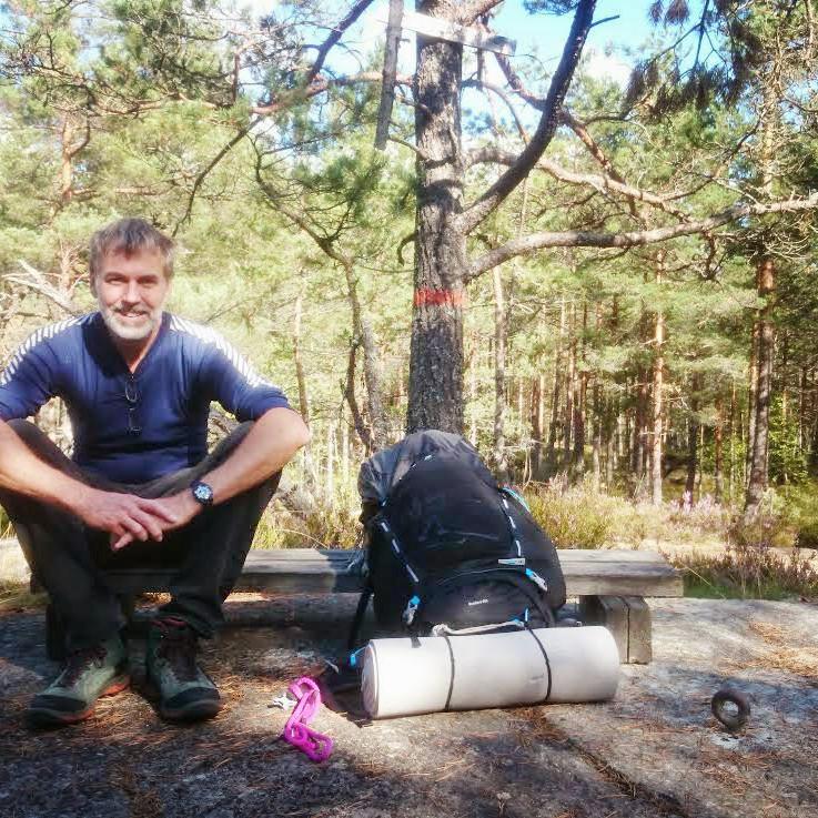 Vandra och paddla efter Sörmlandsleden vid Näshultasjön