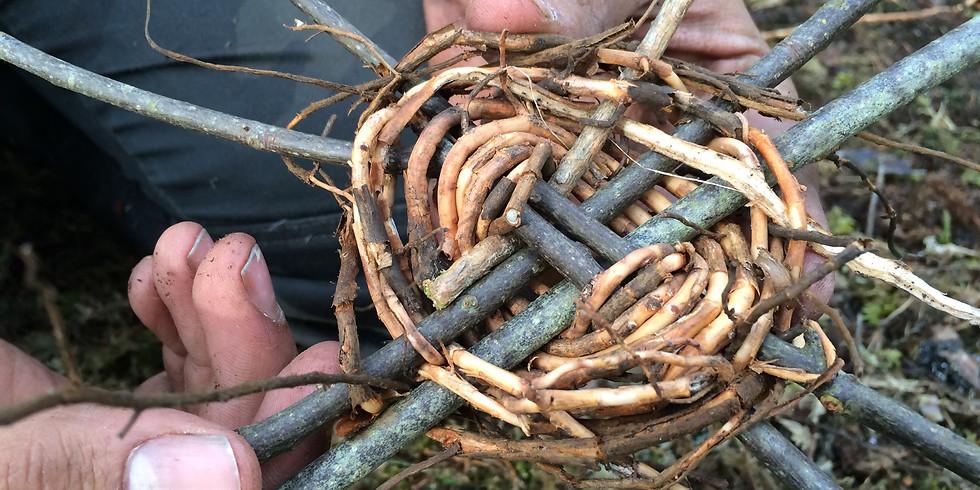 Tillverka rep av naturmaterial
