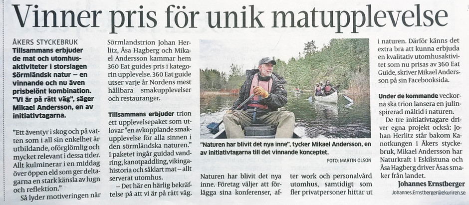 Bäst i Sverige på naturupplevelse