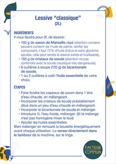 Recettes DIY - Lessive - Facteur Commun.