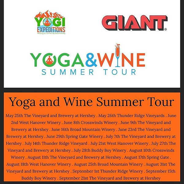 Make sure you join us for our Yoga and W