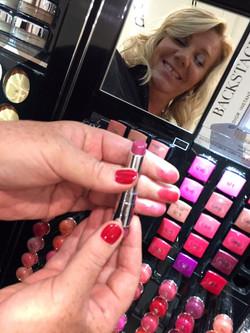 Choosing Lipsticks for a client