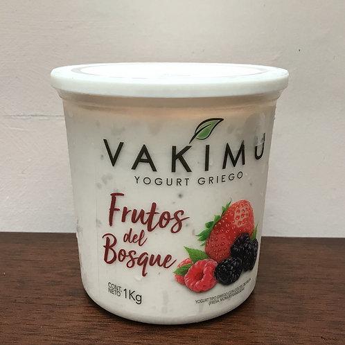 Yogurt Griego Frutos del Bosque 1L