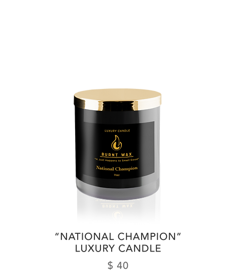 """NATIONAL CHAMPION"" LUXURY CANDLE"