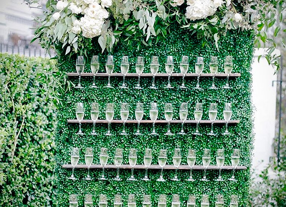 """Woodsy"" Champagne Wall"