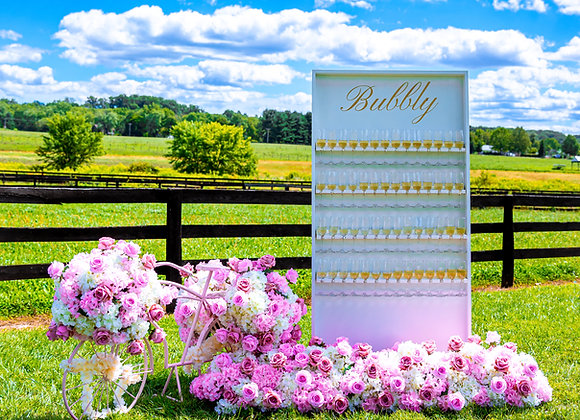 """""""Bubbly"""" Champagne Wall"""