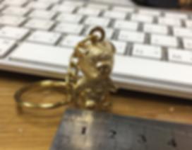 พวงกุญแจทองเหลือง