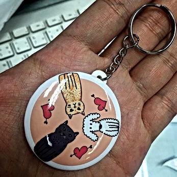 พวงกุญแจเข็มกลัด