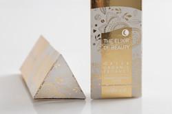 กล่อง เนื้อกระดาษสีทอง