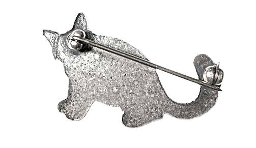 รับทำเข็มกลัดทอง เงิน แบบเข็มกลัดรูปทรงแมว