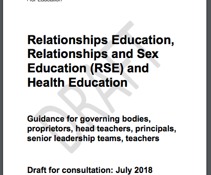Government consultation on sex education –Outspoken responses