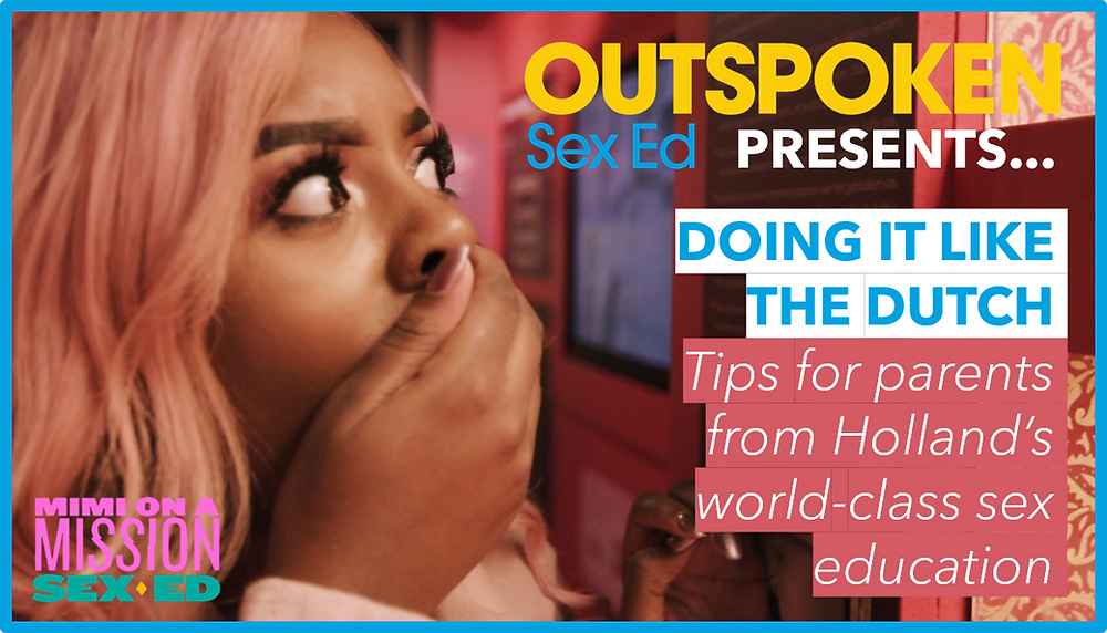 Mimi Missfit puts her hand on her mouth in poster for Outspoken panel discussion