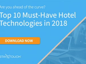 Top 10 Must-Have Hotel Technologies in 2018