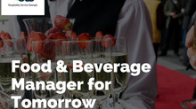 Food & Beverage Manager for Tomorrow