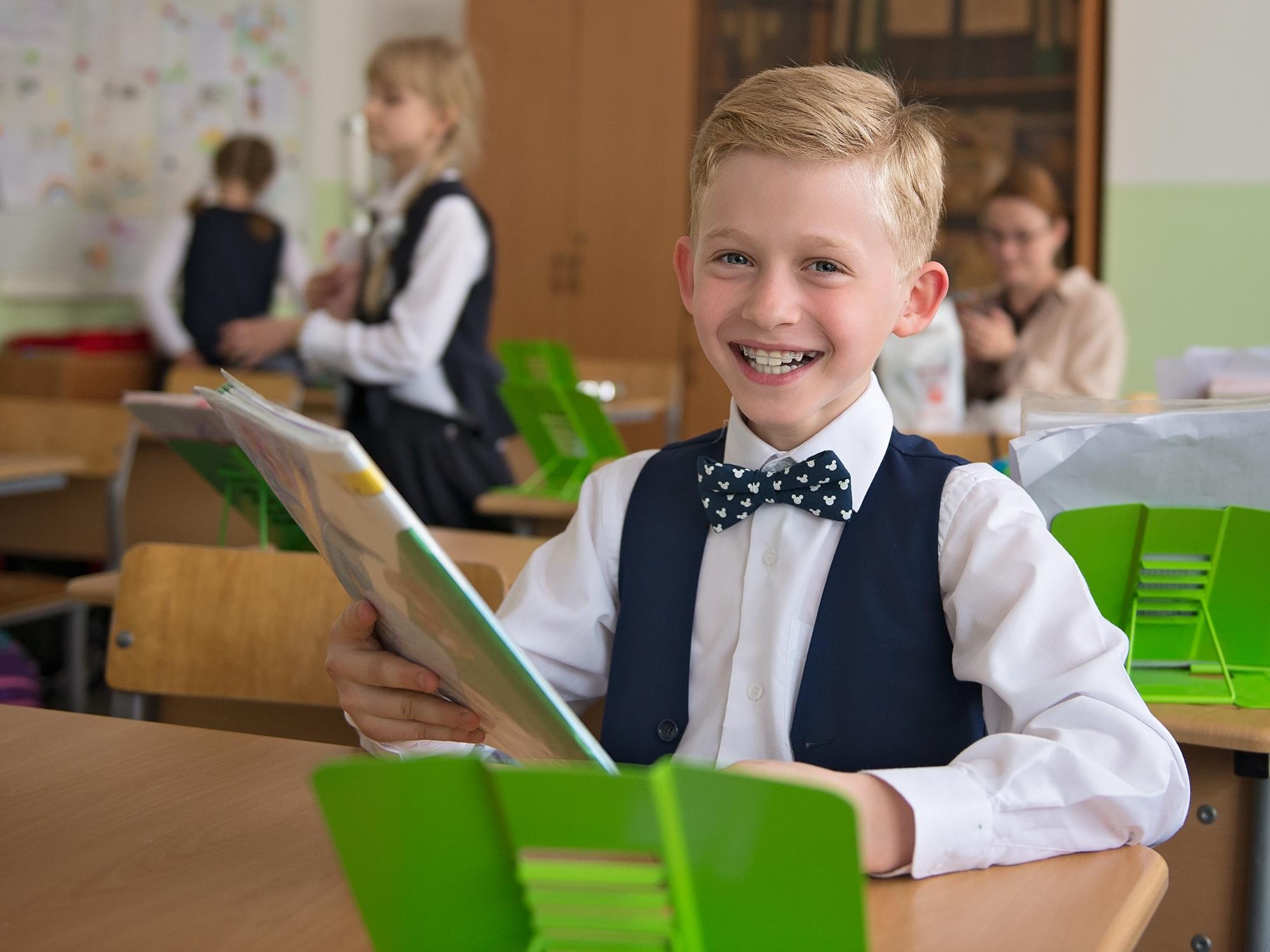 Фотосессия детей в классе, Москва