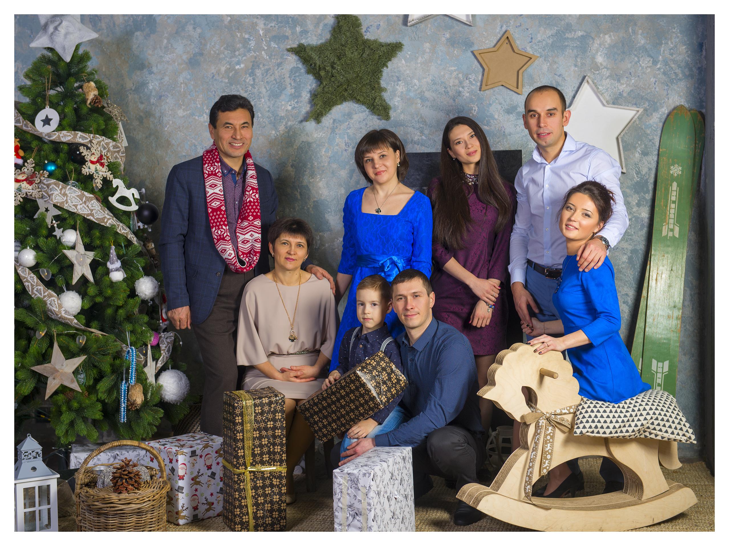 Фотосессия большой семьи Москва