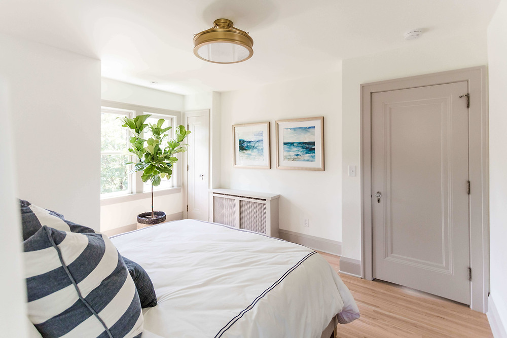 10 ways to add character to your home, paint passage doors a color other than white.