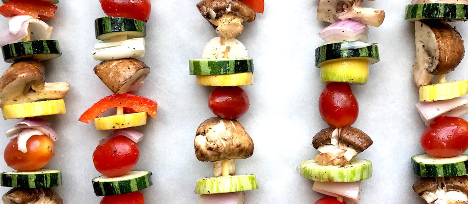 OVEN-ROASTED VEGGIE KABOBS