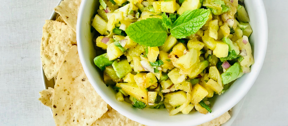 GRILLED CHILI-LIME PINEAPPLE SALSA