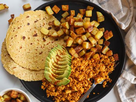 Vegan Huevos Con Chorizo