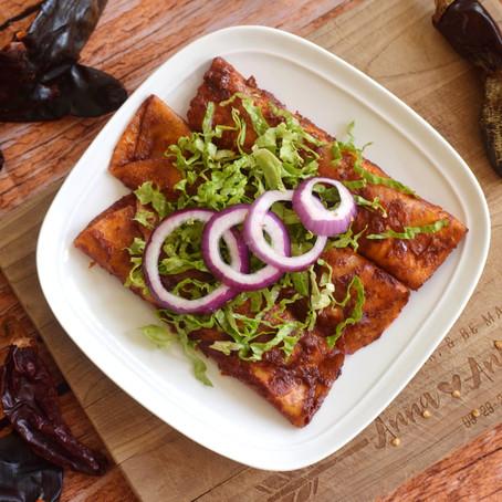 Mole Jackfruit Enchiladas