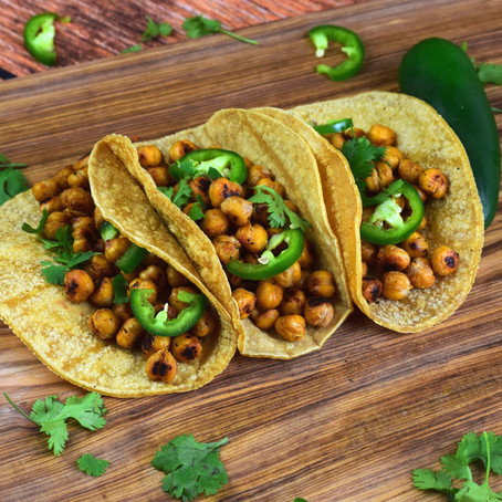 Garlicky Chickpea Tacos