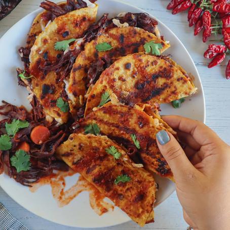 Vegan Quesabirria Tacos