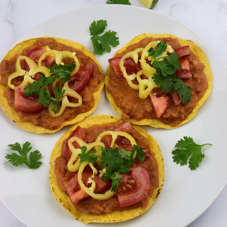 """Refried"" Bean Tostadas"