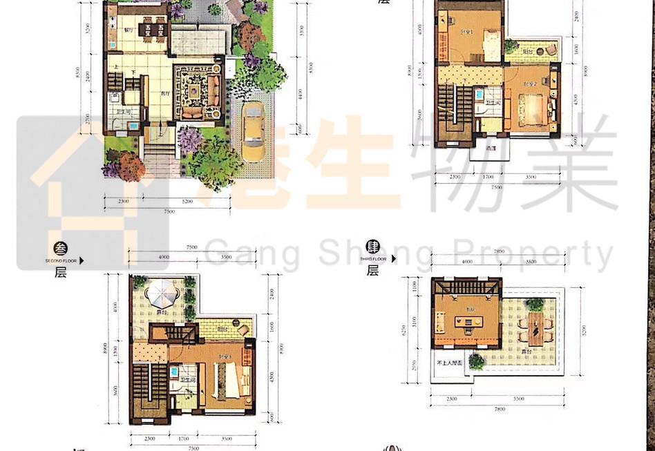 K-02 150㎡ K01,130.86平方 三四房两厅稀缺双拼别墅 双阳台 双