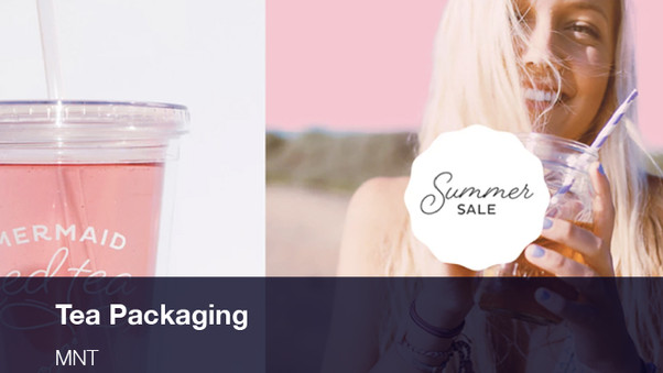 Tea Packaging, Web Design