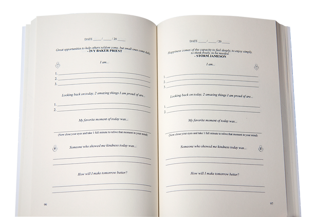 Sample page of The Kindness Journal - How To Be Your Happiest You