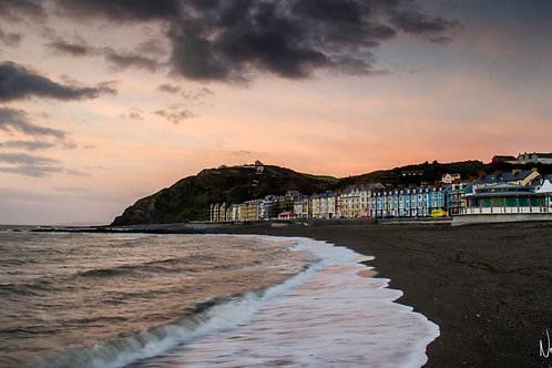 North Beach Sunset Aberystwyth