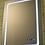 Thumbnail: Зеркало прямоугольное с LED подсветкой, часами и температурой