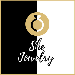 She Jewelry New Logo with Gold Border