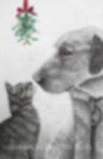 Christmas card 2017 CAT and DOG RAW PERS