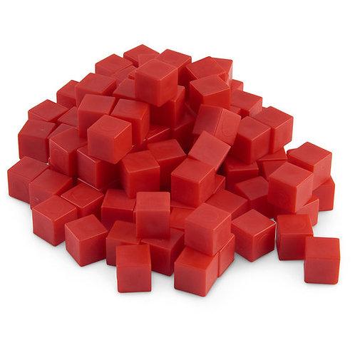 Red Base 10 (Ten) Blocks - Pkg. of 100 Unit Cubes