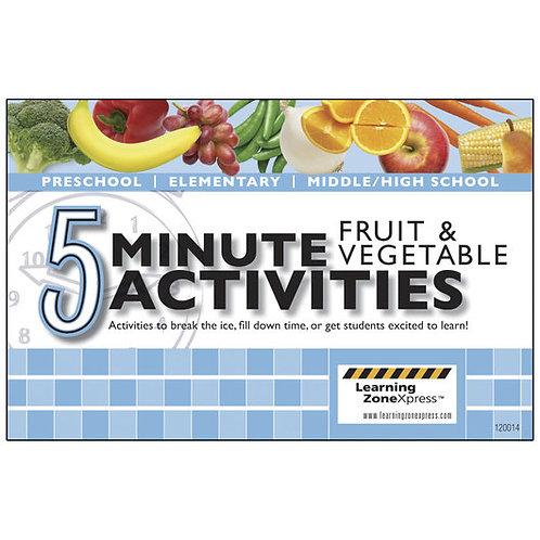 5-Minute Fruit & Vegetable Activities