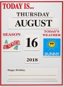 Date & Weather Board