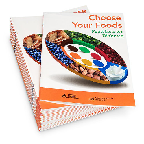 Choose Your Foods: Food Lists for Diabetes Booklet - 25 Pack