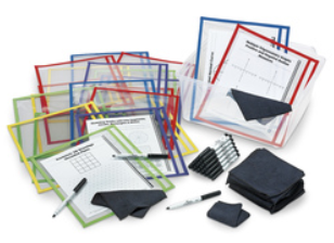 Dry-Erase Side-Loading Pouch Classroom Kit