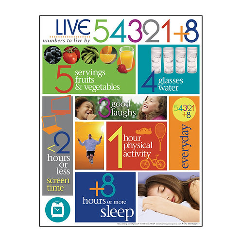 Live 54321+8 Tablet - 8-1/2 in. x 11 in. - 50 Sheets