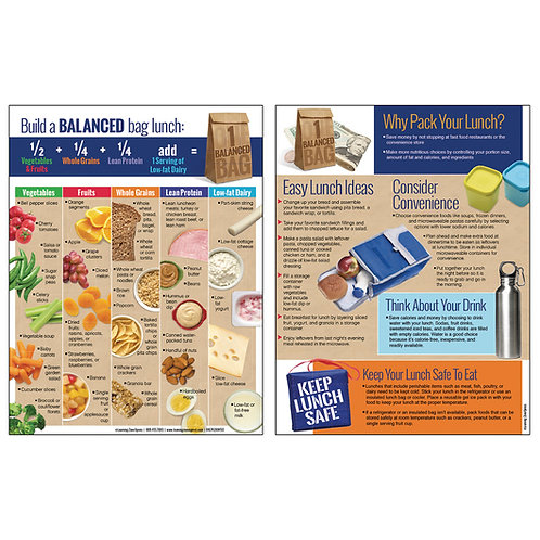 Balanced Lunch Bag Handout - 50 Sheets