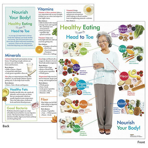 Healthy Eating from Head to Toe for Older Adults Tablet - 8-1/2 in. x 11 in.