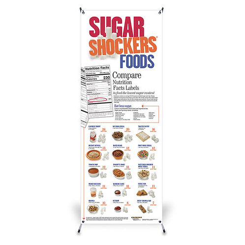 Sugar Shockers™ Vinyl Banner with Stand - 24 in. x 63 in.