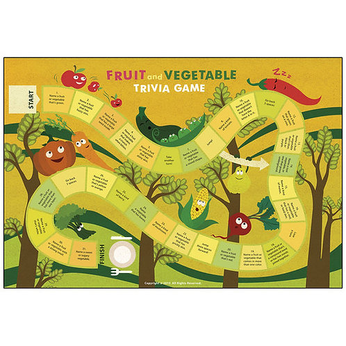 Fruit and Vegetable Trivia Game