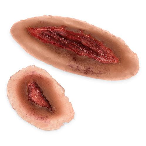 MST™ Basic Laceration Moulage, Medium Skin Color - Set of 2